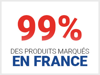 99 pour 100 des produits marqués en France