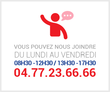 Vous pouvez nous joindre au 04 77 23 66 66.